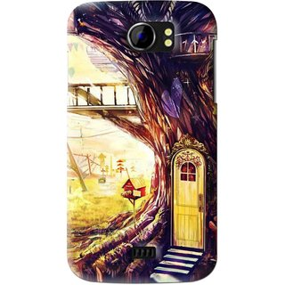 Snooky Printed Dream Home Mobile Back Cover For Micromax Canvas 2 A110 - Multi
