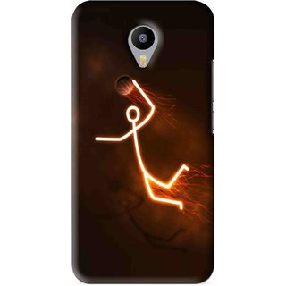 Snooky Printed Burning Man Mobile Back Cover For Meizu M1 Note - Brown
