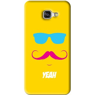 Snooky Printed Yeah Mobile Back Cover For Samsung Galaxy A7 2016 - Yellow