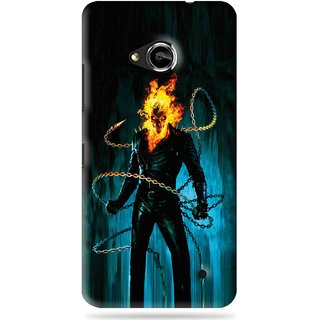 Snooky Printed Ghost Rider Mobile Back Cover For Microsoft Lumia 550 - Blue