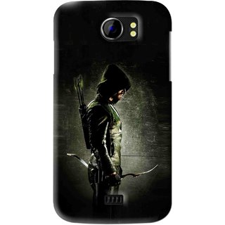 Snooky Printed Hunting Man Mobile Back Cover For Micromax Canvas 2 A110 - Black