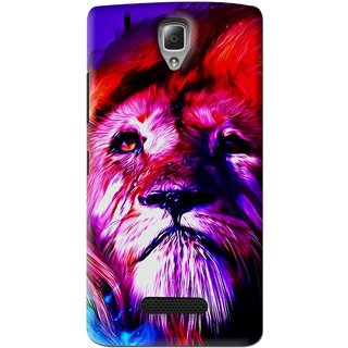 Snooky Printed Freaky Lion Mobile Back Cover For Lenovo A2010 - Multi