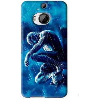 Snooky Printed Blue Hero Mobile Back Cover For HTC One M9 Plus - Blue