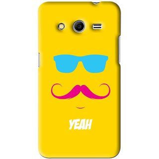 Snooky Printed Yeah Mobile Back Cover For Samsung Galaxy Core 2 - Yellow