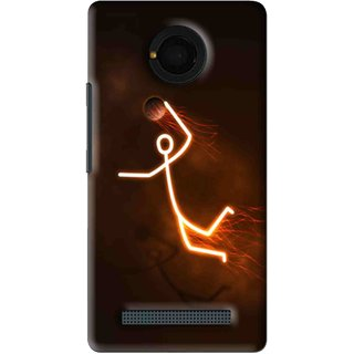 Snooky Printed Burning Man Mobile Back Cover For Micromax Yu Yunique - Brown