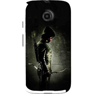 Snooky Printed Hunting Man Mobile Back Cover For Moto E - Black