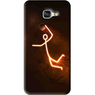 Snooky Printed Burning Man Mobile Back Cover For Samsung Galaxy A7 2016 - Brown