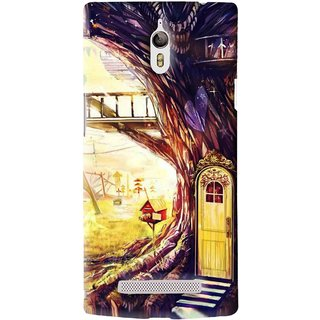 Snooky Printed Dream Home Mobile Back Cover For Oppo Find 7 - Multi
