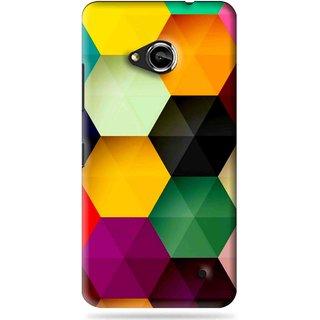 Snooky Printed Hexagon Mobile Back Cover For Microsoft Lumia 550 - Multi