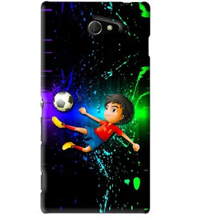 Snooky Printed High Kick Mobile Back Cover For Sony Xperia M2 - Multi