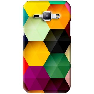 Snooky Printed Hexagon Mobile Back Cover For Samsung Galaxy J1 - Multi