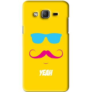 Snooky Printed Yeah Mobile Back Cover For Samsung Galaxy On7 - Yellow