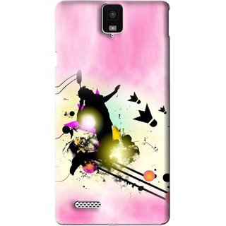 Snooky Printed Flying Man Mobile Back Cover For Infocus M330 - Pink
