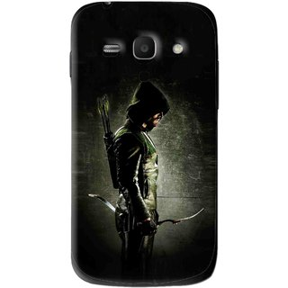 Snooky Printed Hunting Man Mobile Back Cover For Samsung Galaxy Ace 3 - Black