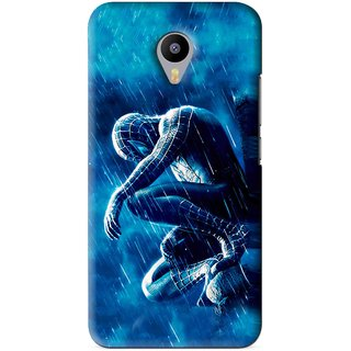 Snooky Printed Blue Hero Mobile Back Cover For Meizu M1 Note - Blue