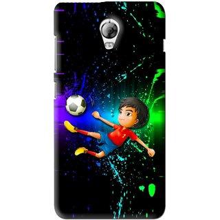 Snooky Printed High Kick Mobile Back Cover For Lenovo Vibe P1 - Multi