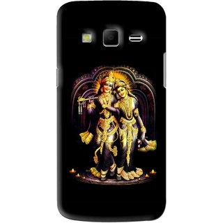 Snooky Printed Radha Krishan Mobile Back Cover For Samsung Galaxy S3 - Black