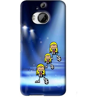 Snooky Printed Girls On Top Mobile Back Cover For HTC One M9 Plus - Blue