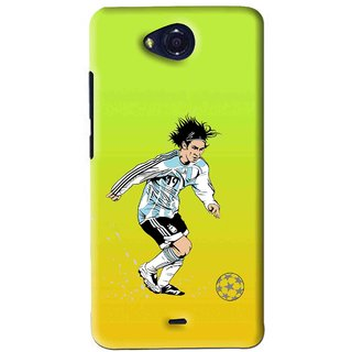 Snooky Printed Focus Ball Mobile Back Cover For Micromax Canvas Play - Multi