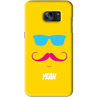 Snooky Printed Yeah Mobile Back Cover For Samsung Galaxy S7 - Yellow