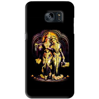Snooky Printed Radha Krishan Mobile Back Cover For Samsung Galaxy S7 - Black
