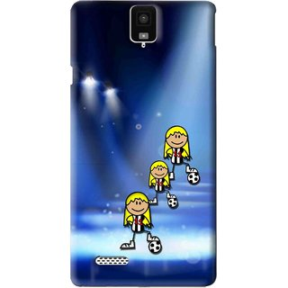 Snooky Printed Girls On Top Mobile Back Cover For Infocus M330 - Blue