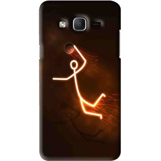 Snooky Printed Burning Man Mobile Back Cover For Samsung Galaxy On7 - Brown