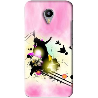 Snooky Printed Flying Man Mobile Back Cover For Meizu M1 Note - Pink