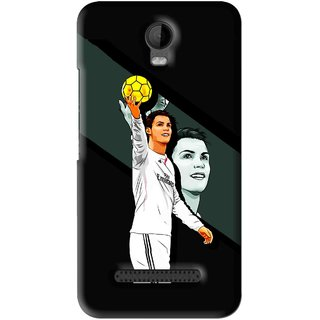 Snooky Printed I Win Mobile Back Cover For Micromax Bolt Q335 - Black