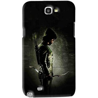 Snooky Printed Hunting Man Mobile Back Cover For Samsung Galaxy Note 2 - Black