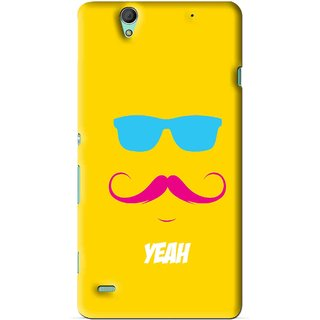 Snooky Printed Yeah Mobile Back Cover For Sony Xperia C4 - Yellow