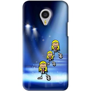 Snooky Printed Girls On Top Mobile Back Cover For Meizu MX4 Pro - Blue