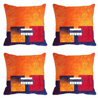 MeSleep Stripes Square Digitally Printed Cushion Covers