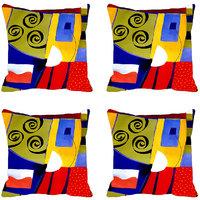 MeSleep Multi Dotted Digitally Printed Cushion Covers