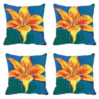 MeSleep Yellow Tulip Digitally Printed Cushion Covers