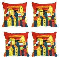 MeSleep Multi Houses Digitally Printed Cushion Covers