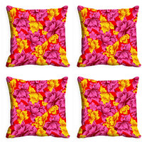 MeSleep Multi Colored Leaves Digitally Printed Cushion Covers