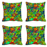 MeSleep Multi Colored Paisley Digitally Printed Cushion Covers