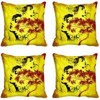 MeSleep Tree Faces Print Digitally Printed Cushion Covers