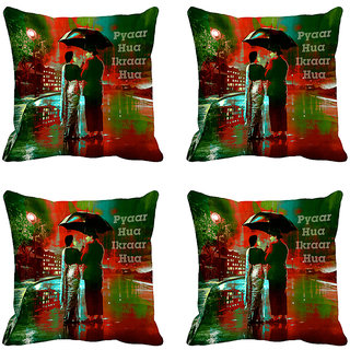 meSleep Pyaar Hua Digitally Printed Cushion Covers