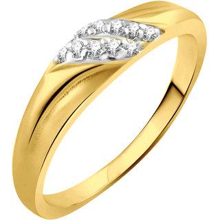 Vidhi Jewels Gold Plated Unique Diamond Alloy  Brass Finger Ring for Women  Girls VFR288G