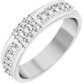 Vidhi Jewels Rhodium Plated Glittering Alloy  Brass Finger Ring for Women  Girls VFR140R