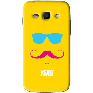 Snooky Printed Yeah Mobile Back Cover For Samsung Galaxy Ace 3 - Yellow