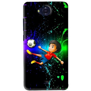 Snooky Printed High Kick Mobile Back Cover For Micromax Canvas Play - Multi