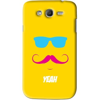 Snooky Printed Yeah Mobile Back Cover For Samsung Galaxy Grand 2 - Yellow