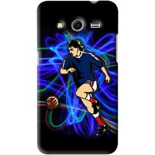 Snooky Printed Football Passion Mobile Back Cover For Samsung Galaxy Core 2 - Black