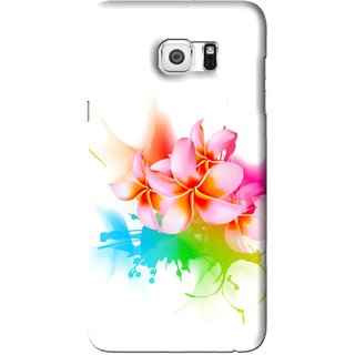 Snooky Printed Colorfull Flowers Mobile Back Cover For Samsung Galaxy S6 Edge Plus - Multi