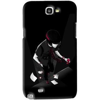 Snooky Printed Hep Boy Mobile Back Cover For Samsung Galaxy Note 2 - Black