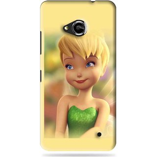 Snooky Printed Butterfly Girl Mobile Back Cover For Microsoft Lumia 550 - Yellow