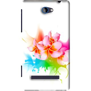Snooky Printed Colorfull Flowers Mobile Back Cover For HTC 8S - Multi